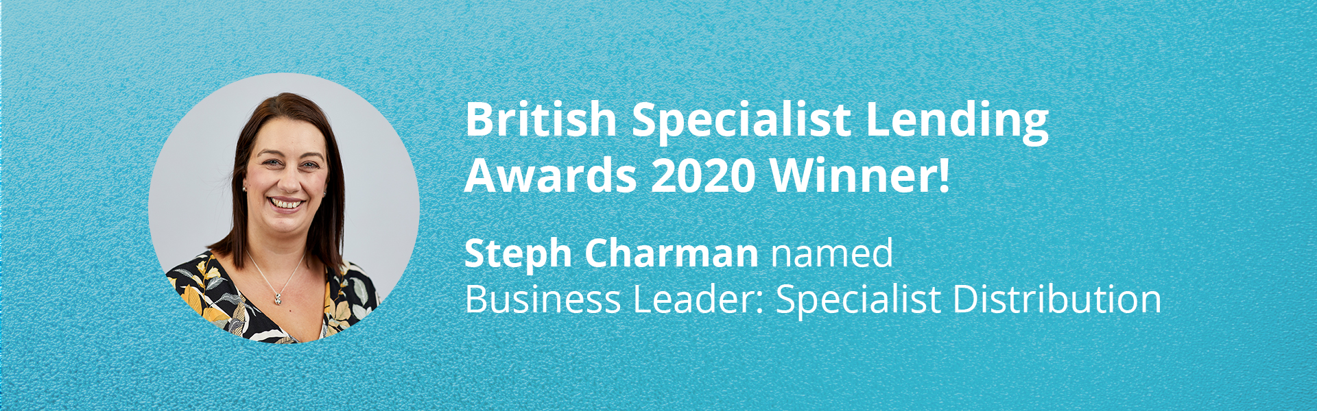 Steph Charman wins at British Specialist Lending Awards 2020